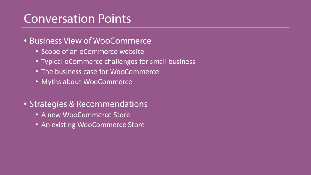 • • Scope of an eCommerce website • Typical eCo...