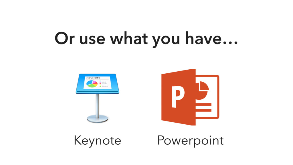Or use what you have… Keynote Powerpoint