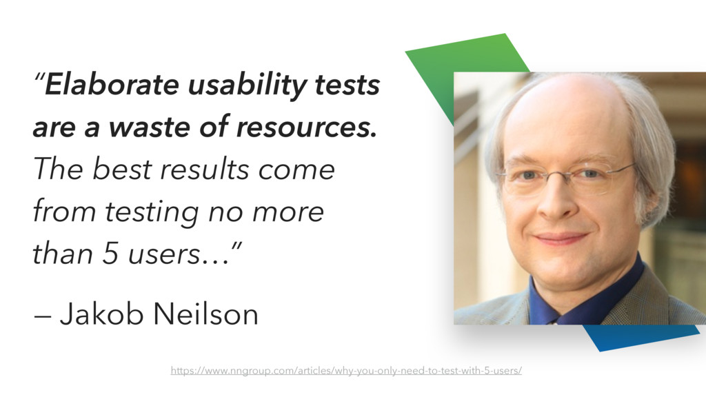 """Elaborate usability tests are a waste of resou..."