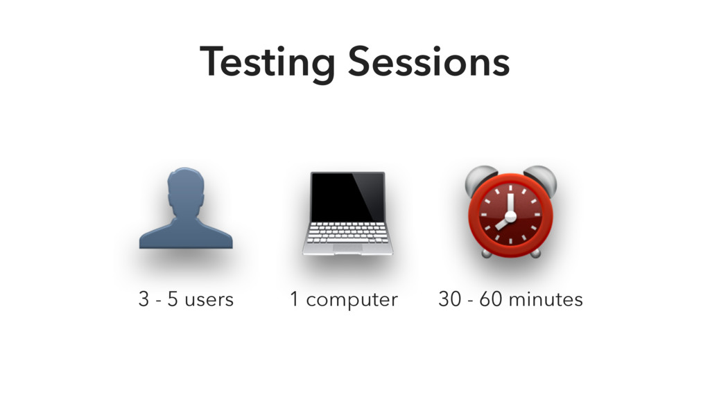 30 - 60 minutes 1 computer  ⏰  3 - 5 users Test...