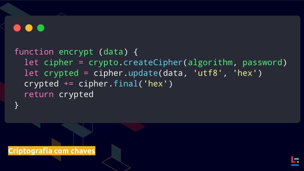 Criptografia com chaves