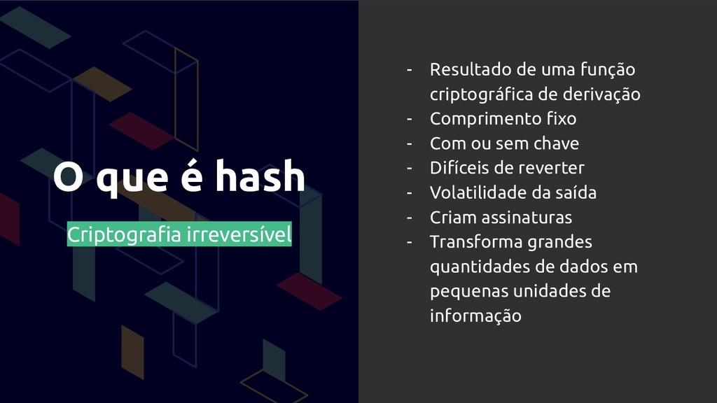 O que é hash Criptografia irreversível - Resulta...