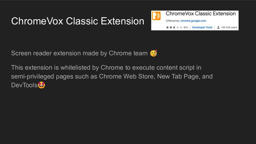 ChromeVox Classic Extension Screen reader exten...