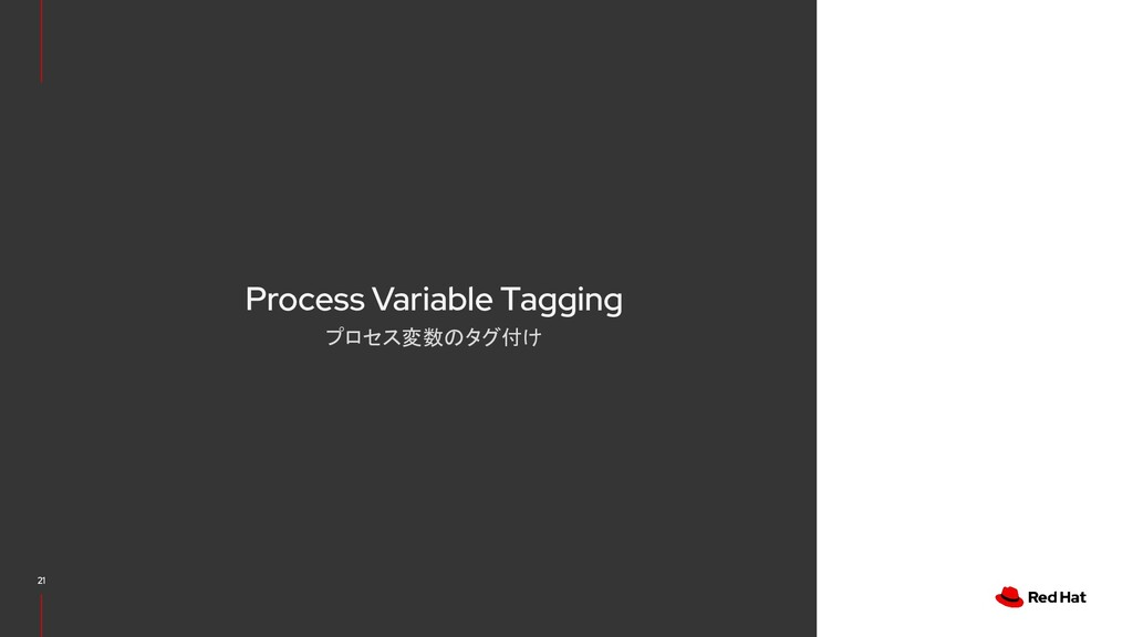 Process Variable Tagging プロセス変数のタグ付け 21