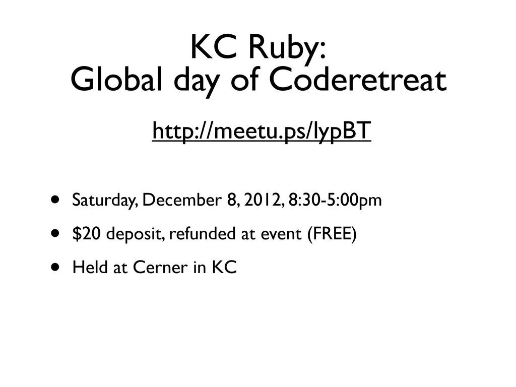 http://meetu.ps/lypBT • Saturday, December 8, 2...
