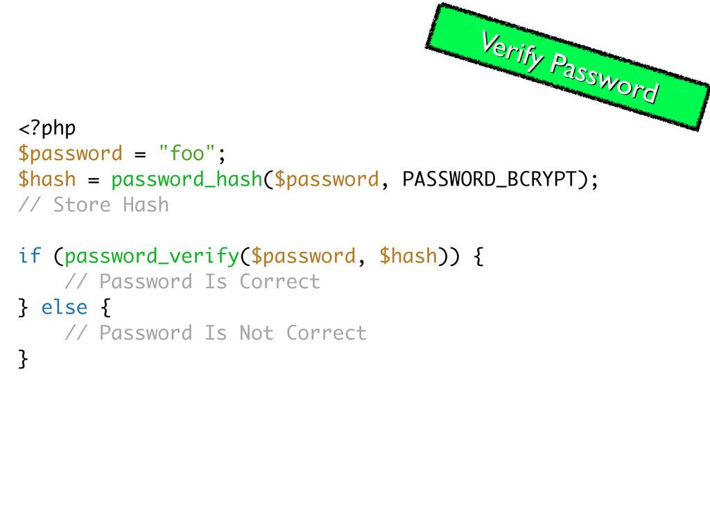 """<?php $password = """"foo""""; $hash = password_hash(..."""
