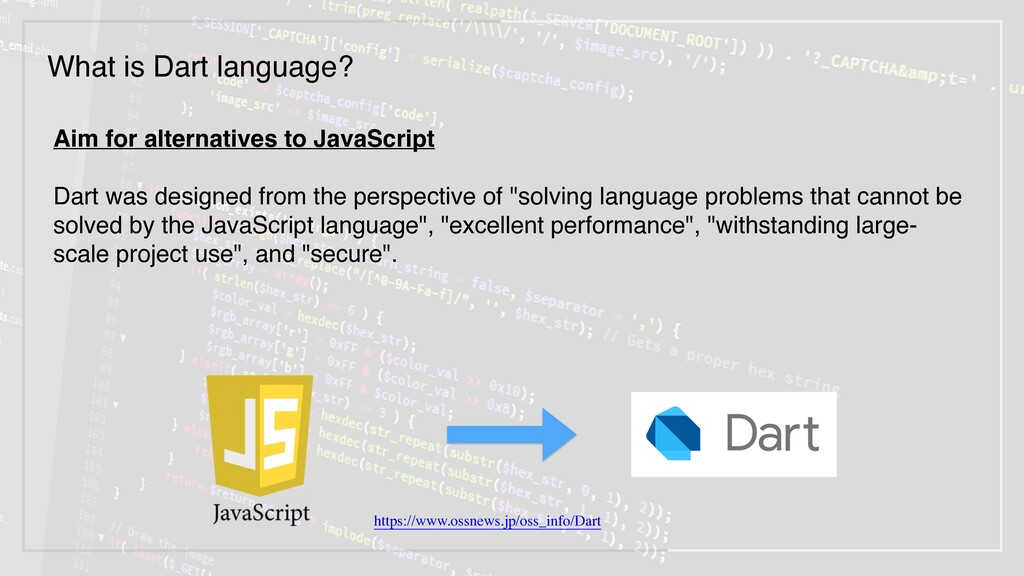 Aim for alternatives to JavaScript 