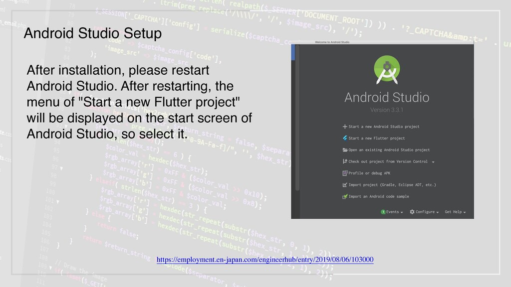 After installation, please restart Android Stud...