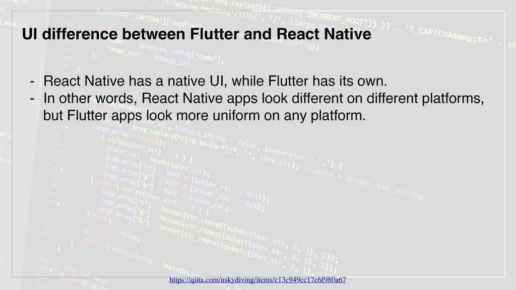 UI difference between Flutter and React Native ...