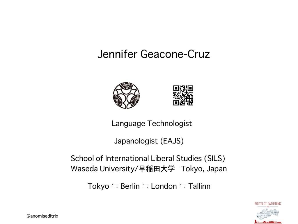 @anomiseditrix Jennifer Geacone-Cruz Language T...