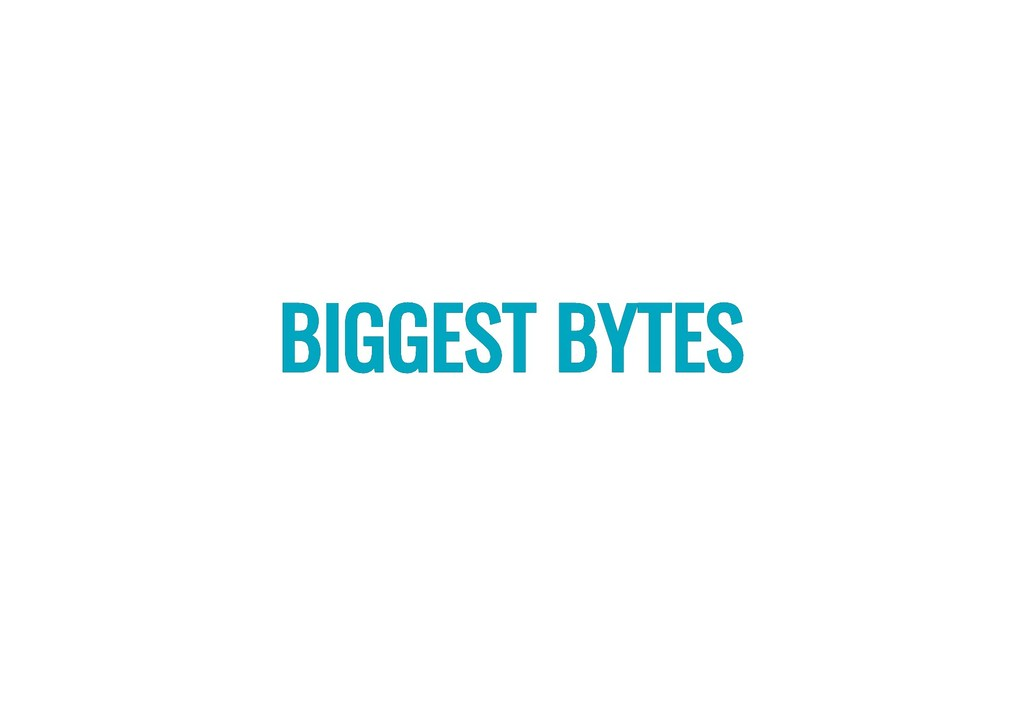 BIGGEST BYTES BIGGEST BYTES