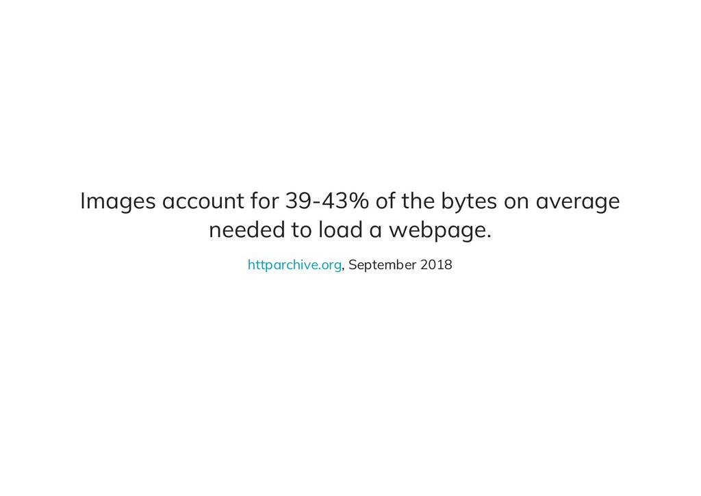 Images account for 39-43% of the bytes on avera...