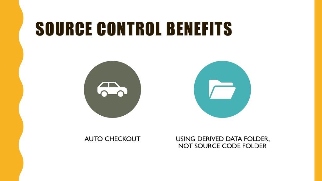 SOURCE CONTROL BENEFITS AUTO CHECKOUT USING DER...