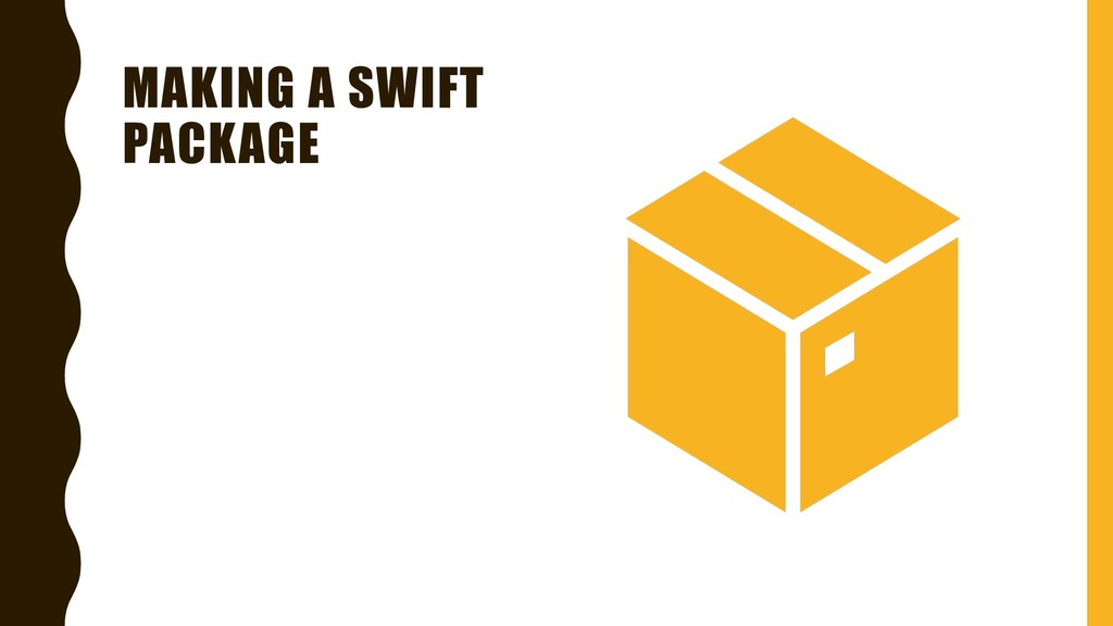 MAKING A SWIFT PACKAGE