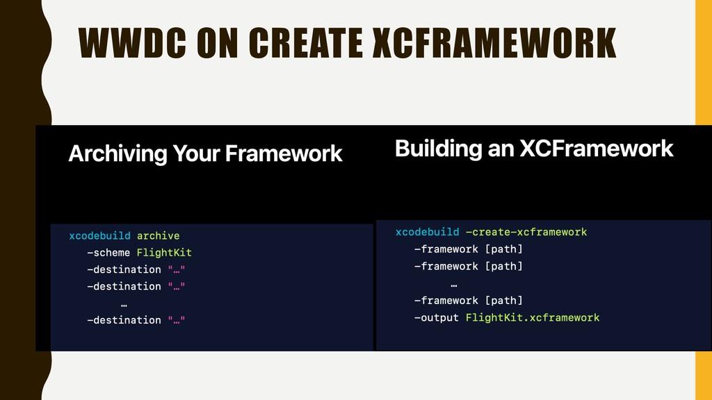 WWDC ON CREATE XCFRAMEWORK
