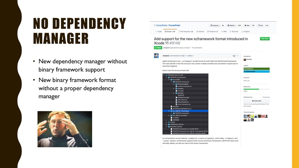 NO DEPENDENCY MANAGER • New dependency manager ...