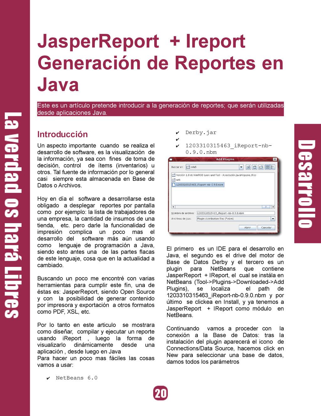 JasperReport + Ireport Generación de Reportes e...