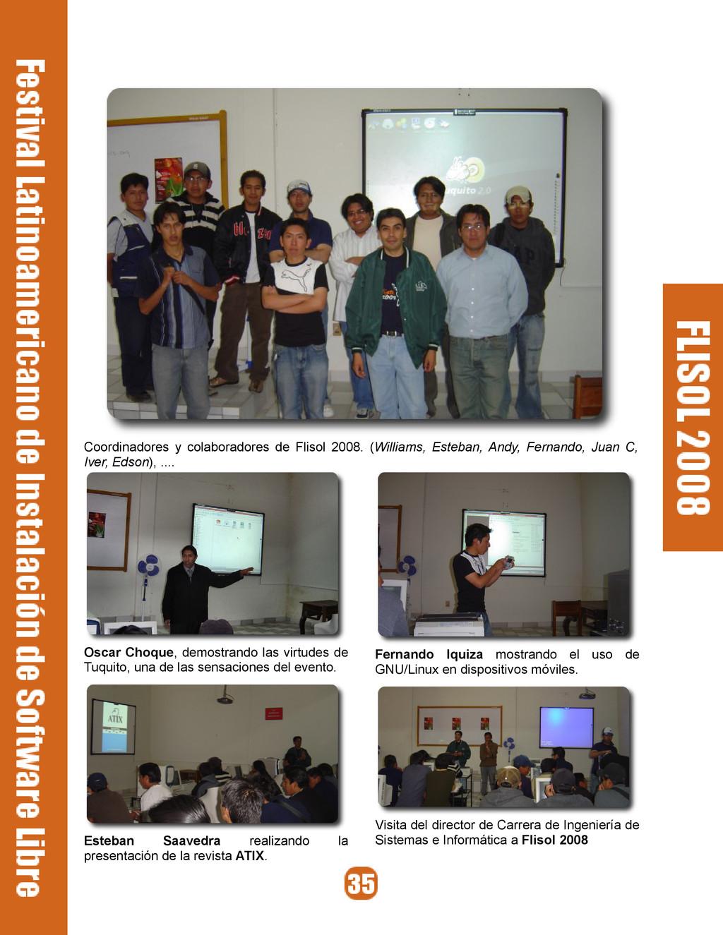 Coordinadores y colaboradores de Flisol 2008. (...