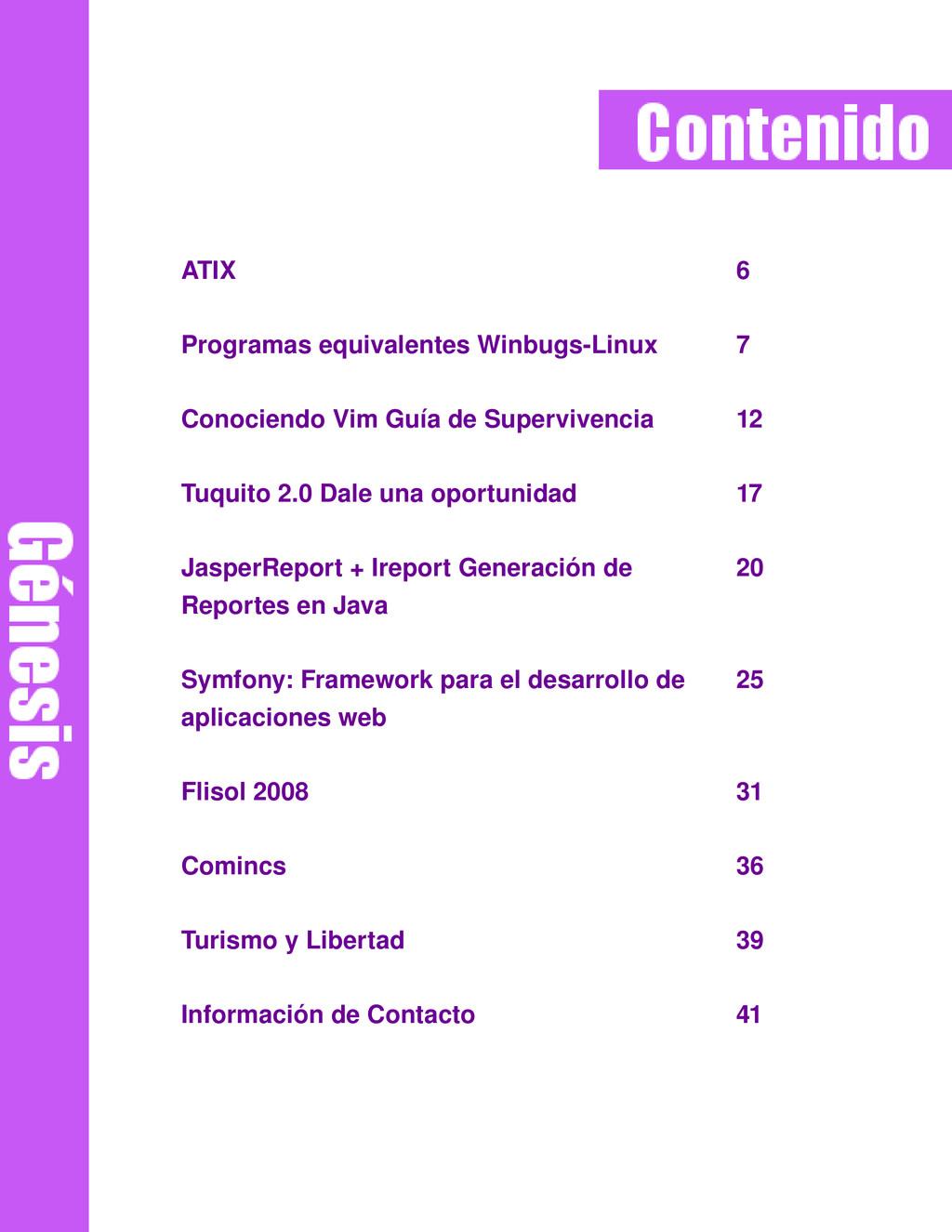 ATIX 6 Programas equivalentes WinbugsLinux 7 C...