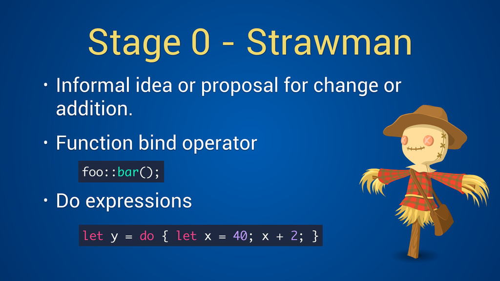 Stage 0 - Strawman • Informal idea or proposal ...