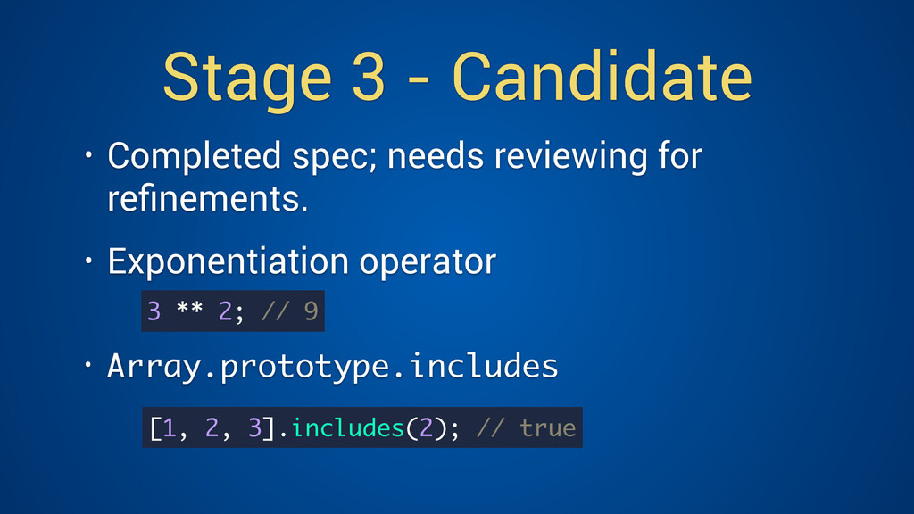 Stage 3 - Candidate • Completed spec; needs rev...
