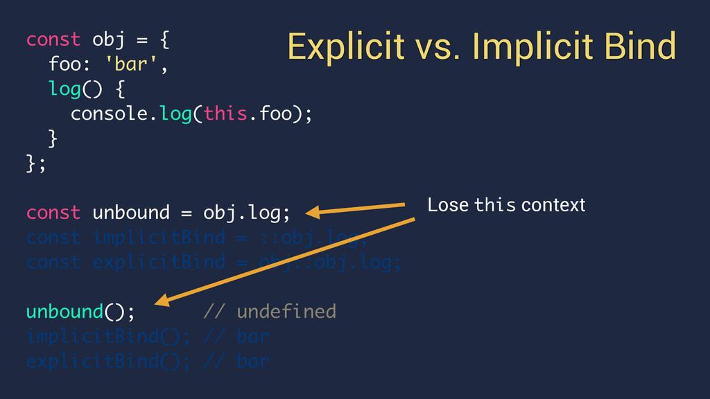 const obj = { foo: 'bar', log() { console.log(t...