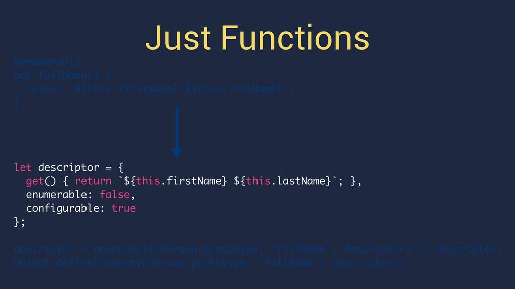 Just Functions @enumerable get fullName() { ret...