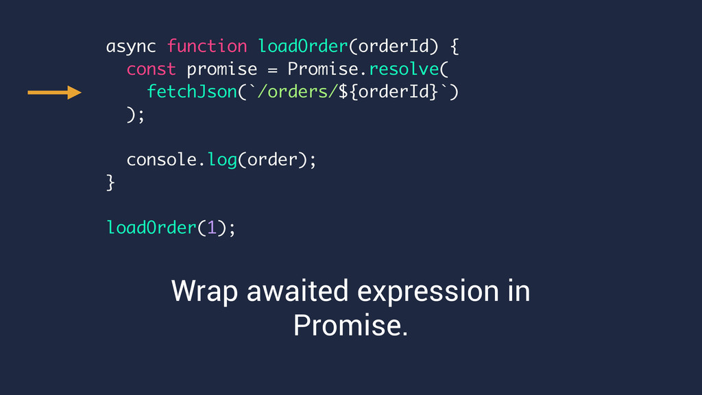 Wrap awaited expression in Promise. async funct...