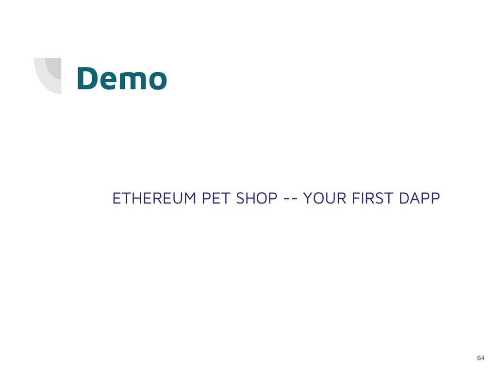 ETHEREUM PET SHOP -- YOUR FIRST DAPP Demo 64