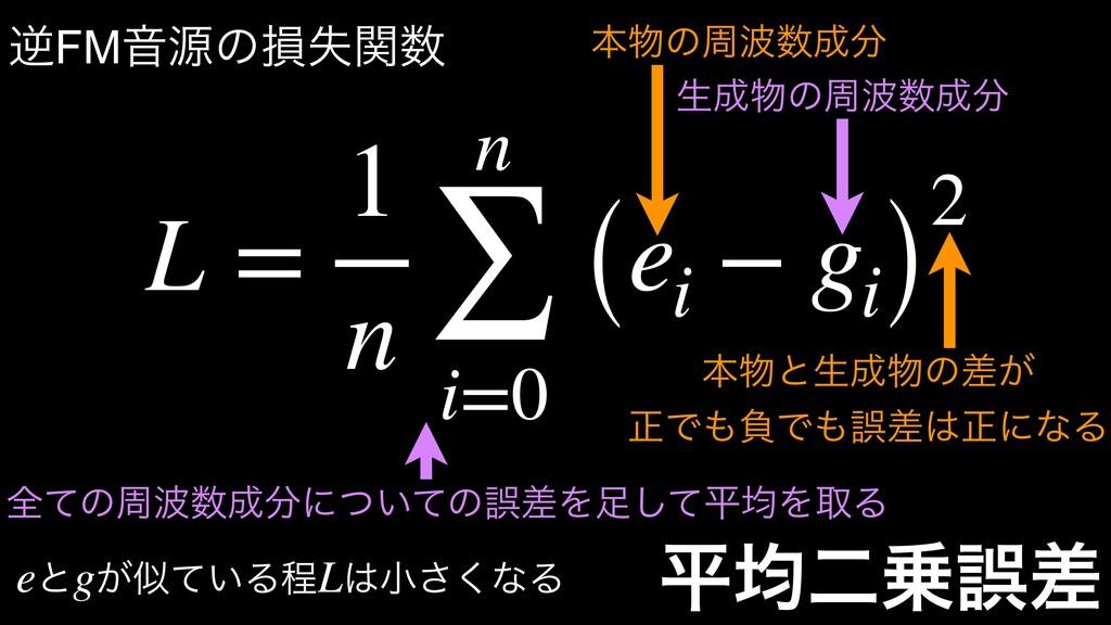 ฏۉೋޡࠩ L = 1 n n ∑ i=0 (ei − gi) 2 ຊͷप ੜ...