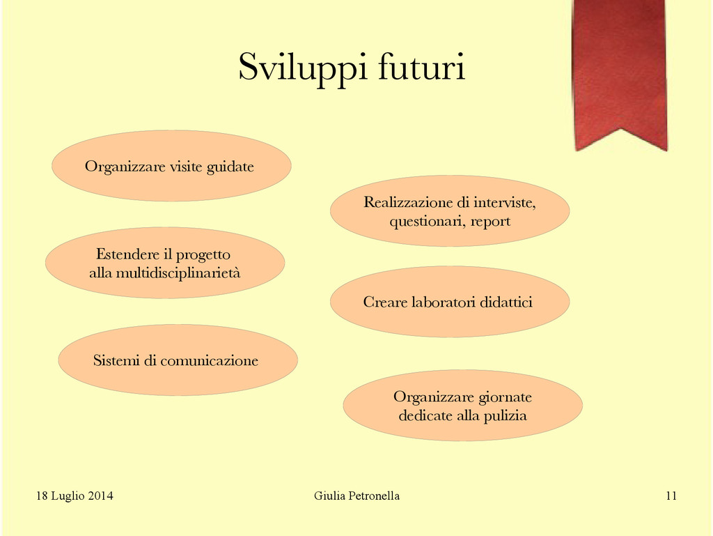 Giulia Petronella 18 Luglio 2014 11 Sviluppi fu...