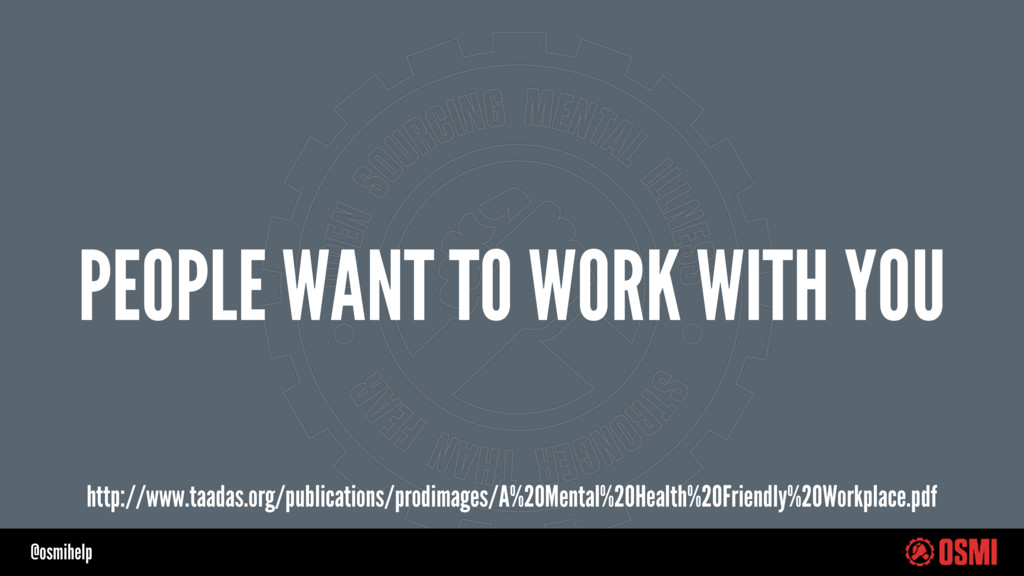 @osmihelp PEOPLE WANT TO WORK WITH YOU http://w...