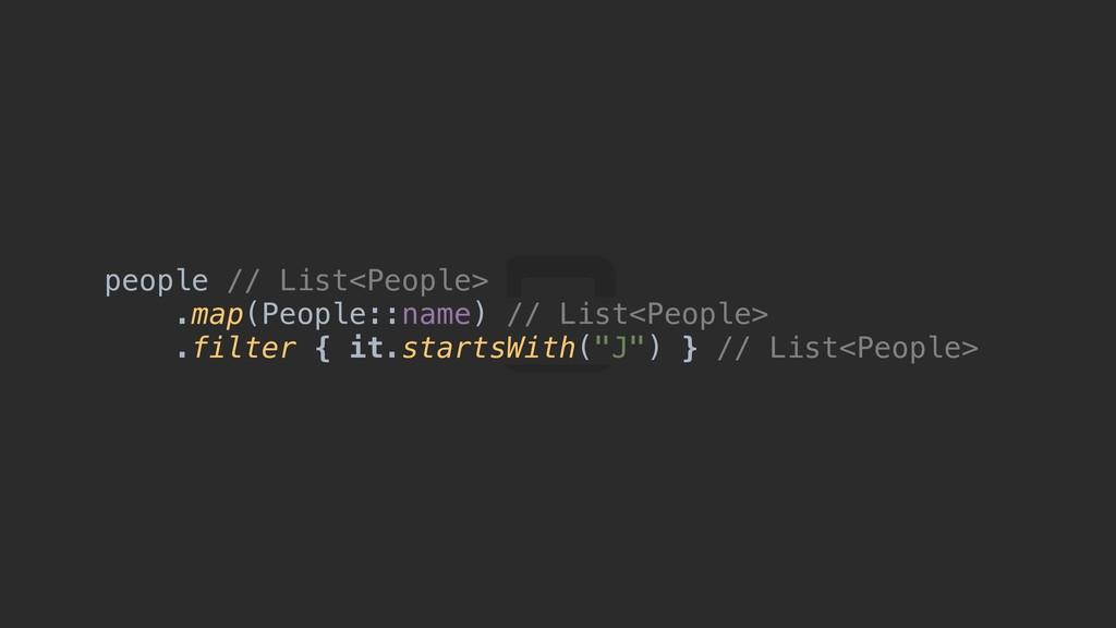 people // List<People> .map(People::name) // Li...