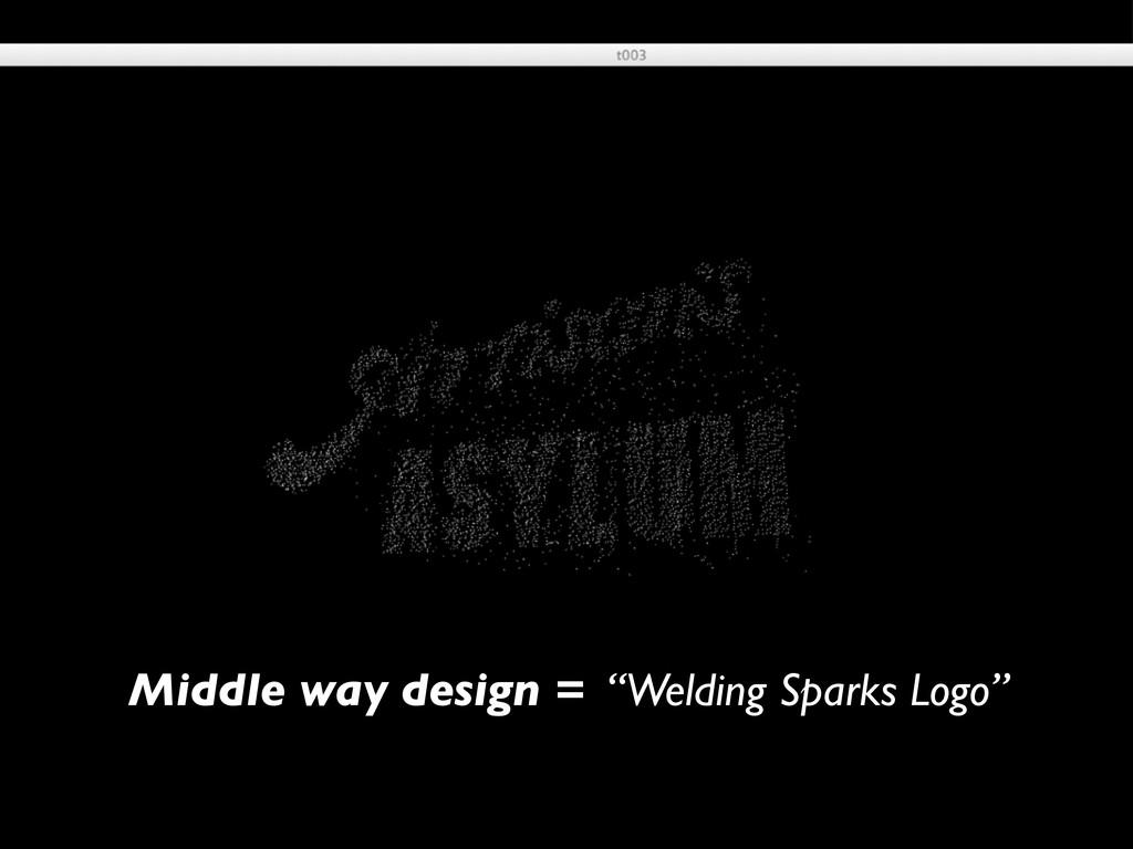"""Middle way design = """"Welding Sparks Logo"""""""