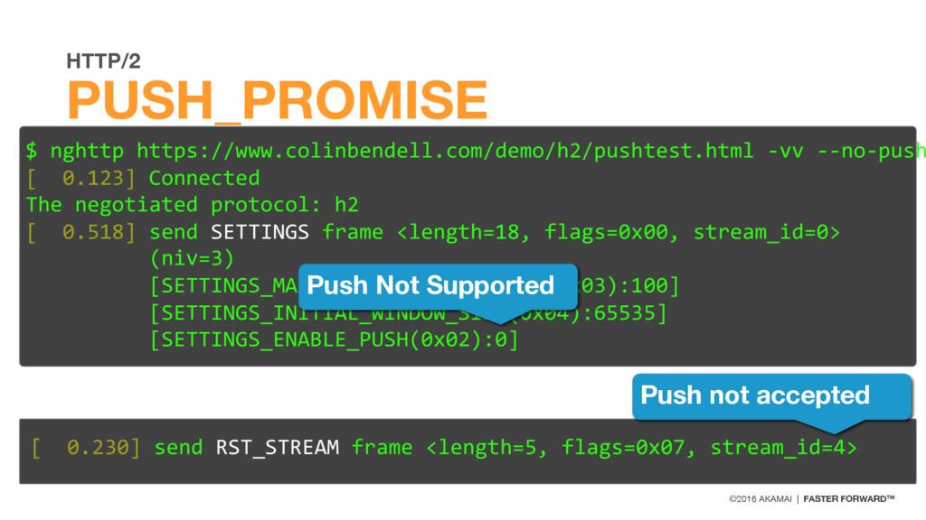 ©2016 AKAMAI | FASTER FORWARD™ HTTP/2 PUSH_PROM...