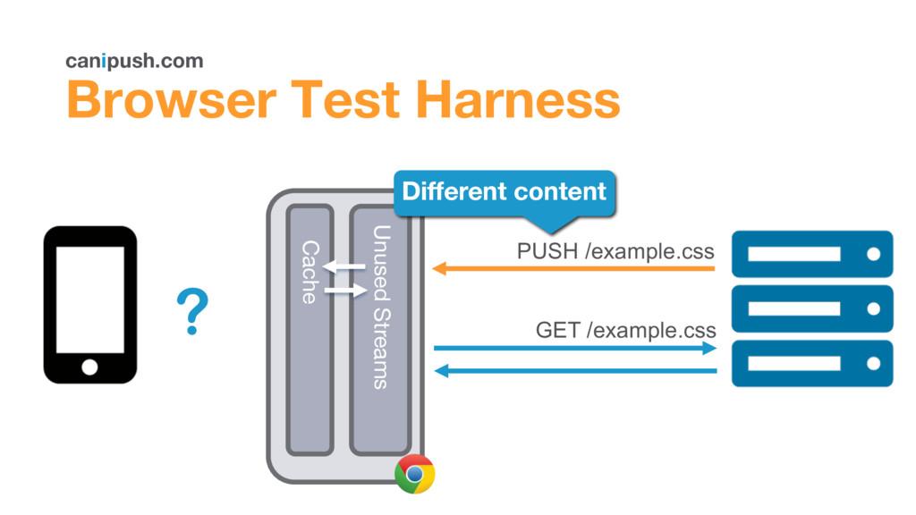 canipush.com Browser Test Harness Browser GET /...