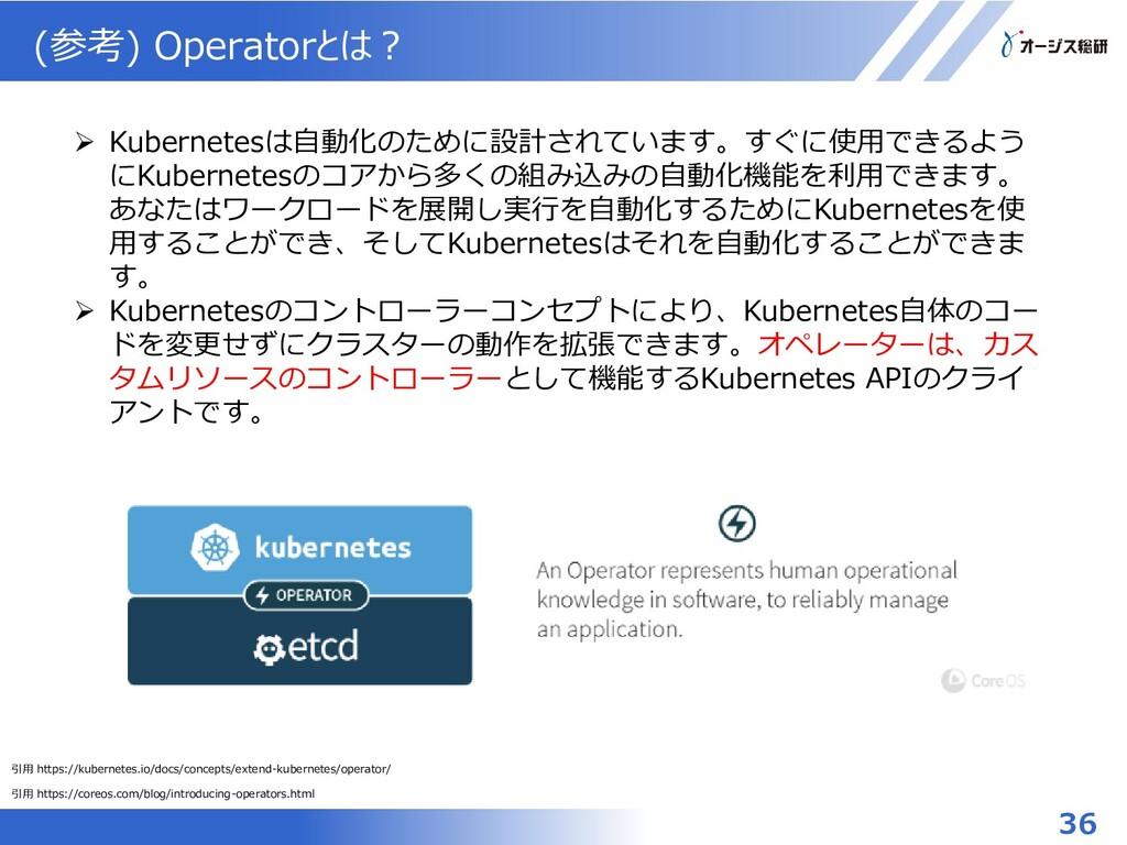 (参考) Operatorとは? 引用 https://coreos.com/blog/int...