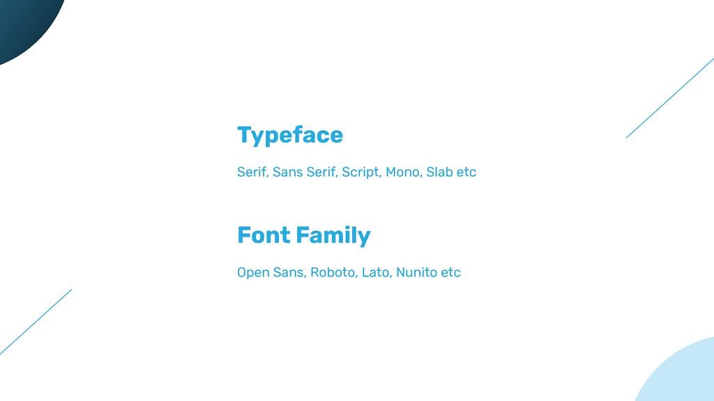 Typeface Serif, Sans Serif, Script, Mono, Slab ...