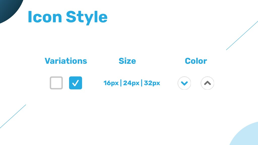 Icon Style Variations Size Color 16px | 24px | ...
