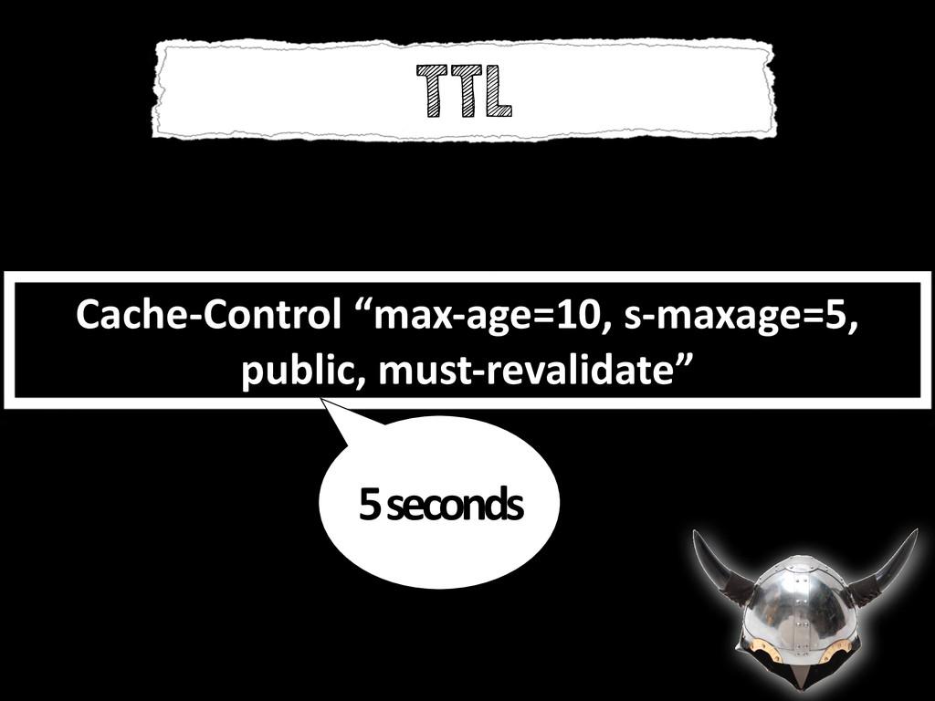 """Cache-‐Control """"max-‐age=10, s-‐maxage..."""