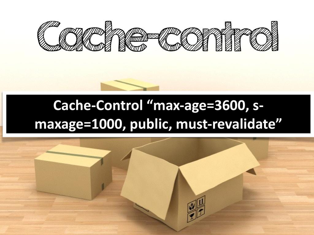 """Cache-control Cache-‐Control """"max-‐age=360..."""