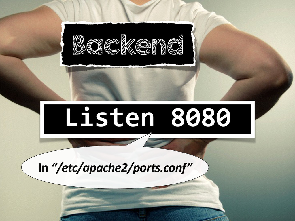 "Backend Listen 8080  In ""/etc/apache2/..."