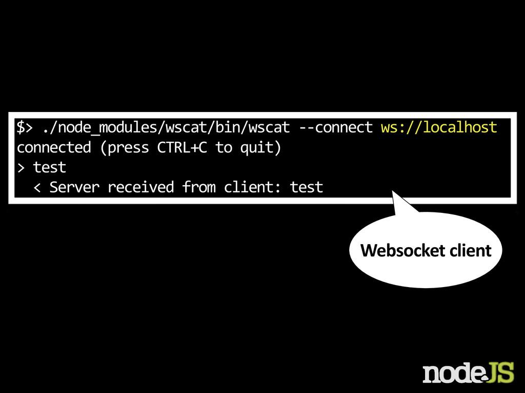 $> ./node_modules/wscat/bin/wscat -‐-‐c...