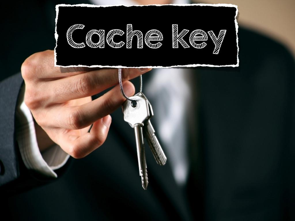 Cache key