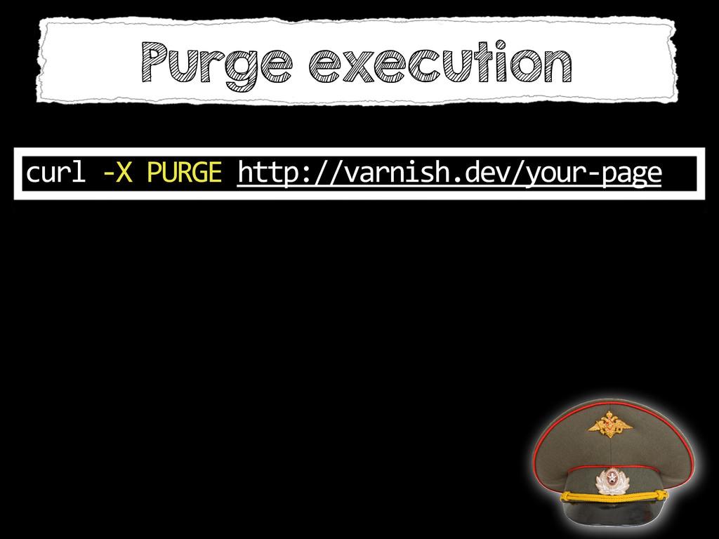 Purge execution curl -‐X PURGE http:/...