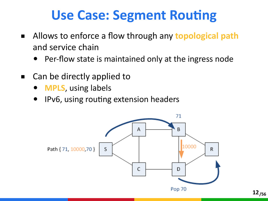 /56 ■ Allows to enforce a flow through any...