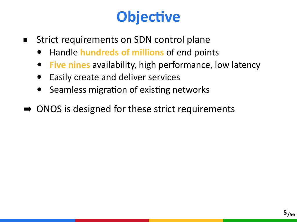 /56 ■ Strict requirements on SDN control p...