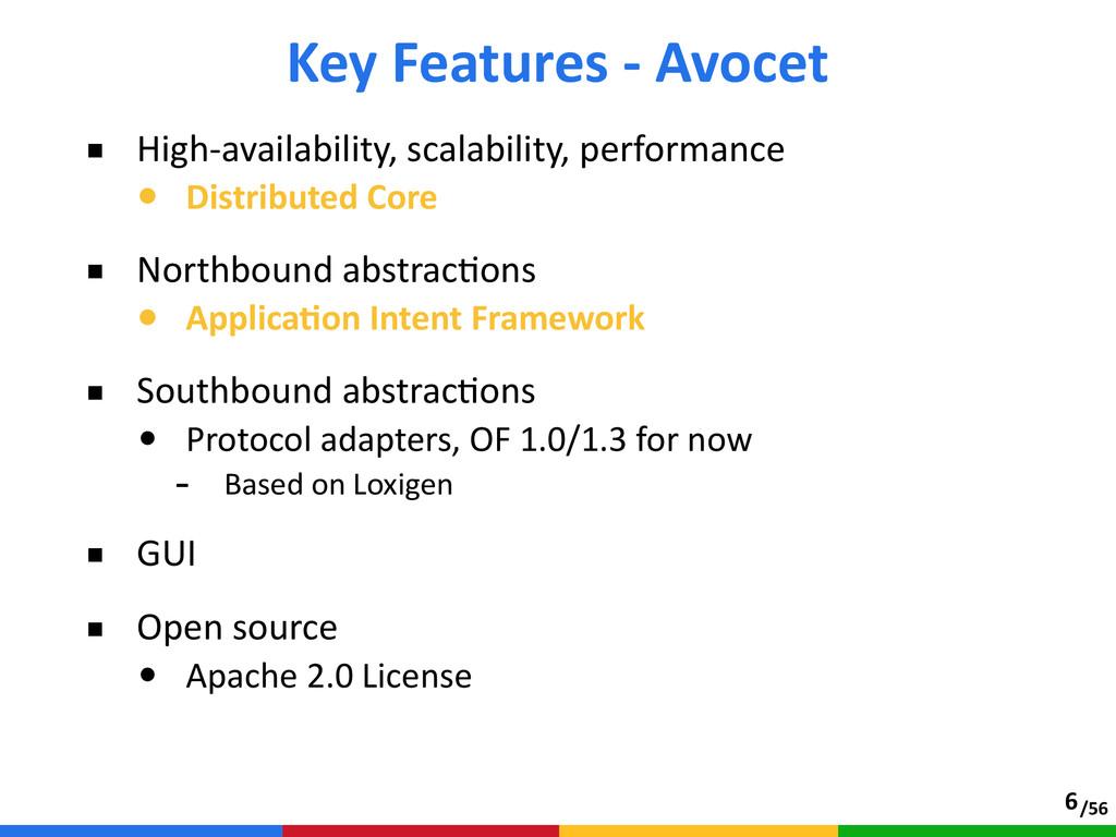 /56 ■ High-‐availability, scalability, perfo...