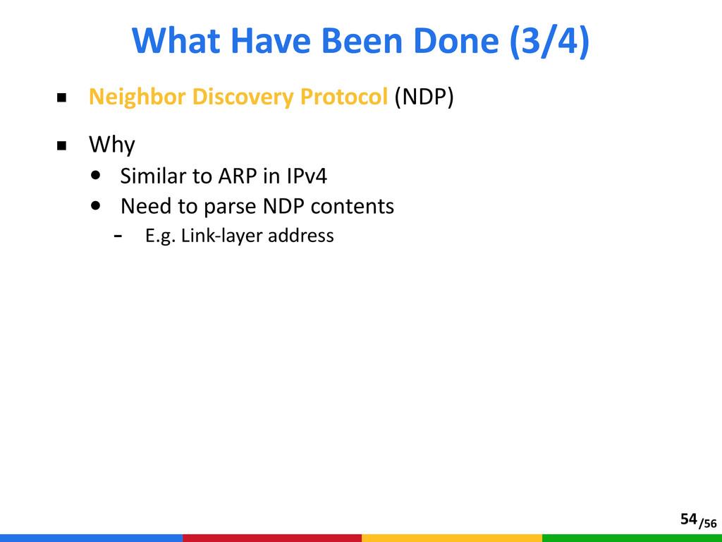 /56 ■ Neighbor Discovery Protocol (NDP)  ■ ...
