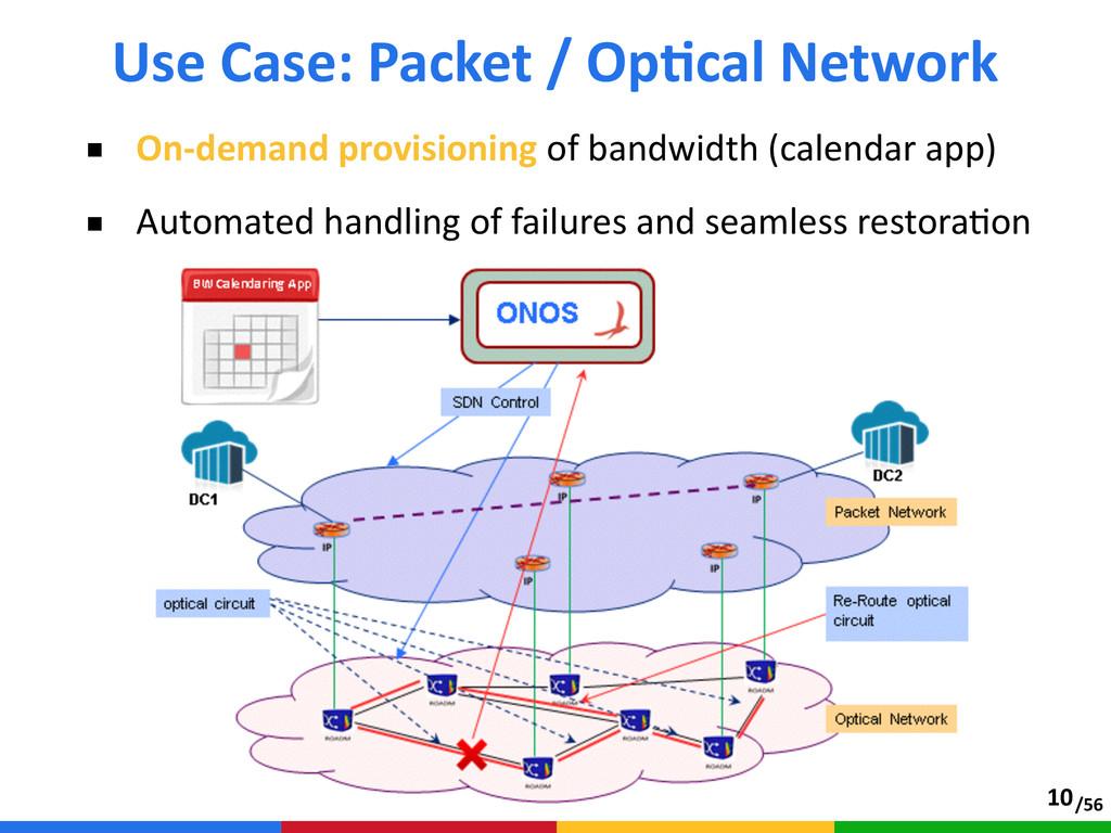 /56 ■ On-‐demand provisioning of bandwidth ...